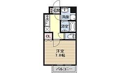 ベラジオ五条堀川III[307号室号室]の間取り