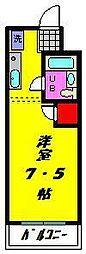 コスモ・マンション[203号室]の間取り