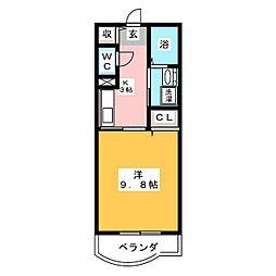 ハーモニー21[3階]の間取り