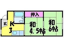 愛媛県松山市三番町6丁目の賃貸マンションの間取り
