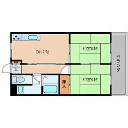 奈良県大和高田市大谷の賃貸マンションの間取り