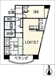 アムール宮崎[1階]の間取り
