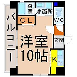愛知県名古屋市中村区黄金通4丁目の賃貸マンションの間取り