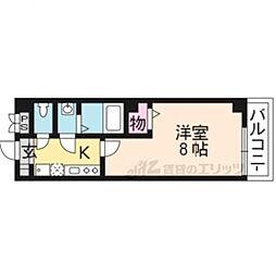京阪本線 龍谷大前深草駅 徒歩9分の賃貸マンション 5階1Kの間取り
