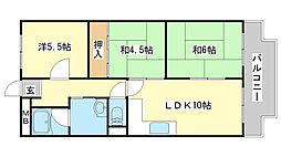 シャトー司[2階]の間取り