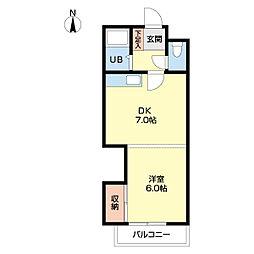 札幌市営南北線 北12条駅 徒歩5分の賃貸マンション 3階1DKの間取り