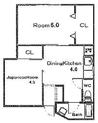 早川ビル[4階]の間取り