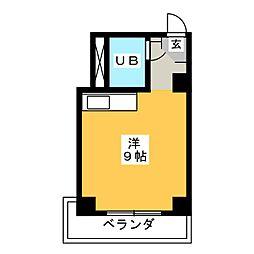 天白山田ビル[4階]の間取り