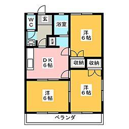 メゾン高田B[1階]の間取り