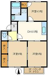 パラシオンユキ 202[2階]の間取り