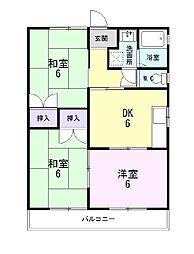 静岡県田方郡函南町柏谷の賃貸アパートの間取り