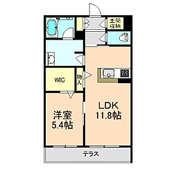 (仮称)豊中市シャーメゾン熊野町3丁目 1階1LDKの間取り