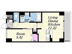 JR東海道・山陽本線 西宮駅 徒歩7分の賃貸マンション 7階1LDKの間取り