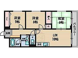 アムール桃山台[4階]の間取り
