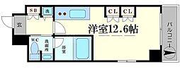 南堀江プライマリーワン[10階]の間取り