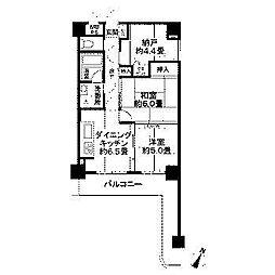 ライオンズマンション東林間第3[3階]の間取り