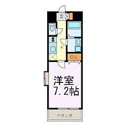 クレシェール大須[301号室]の間取り