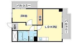 野里寺町中村コーポ[403号室]の間取り