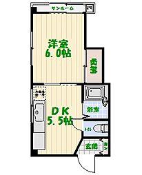 グリンクレール[3階]の間取り