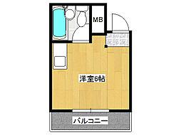 エルシティ新今里[5階]の間取り
