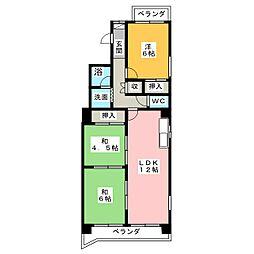 千代田セントラルビル[6階]の間取り