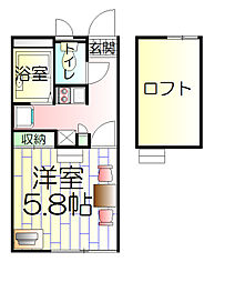 東京都足立区花畑4丁目の賃貸アパートの間取り
