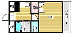 フェニックス水尾[3階]の間取り
