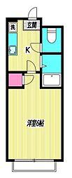 東京都杉並区上荻1丁目の賃貸マンションの間取り