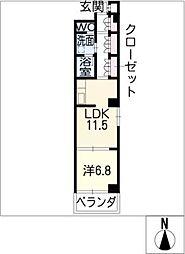 ラコンテ若葉[2階]の間取り