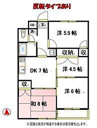 ファインクロス5番館[2階]の間取り