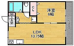 良野マンション[2階]の間取り