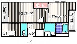 フジパレス堺東雲II番館[2階]の間取り