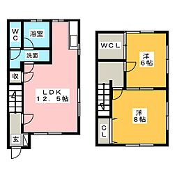 [テラスハウス] 静岡県浜松市南区瓜内町 の賃貸【/】の間取り