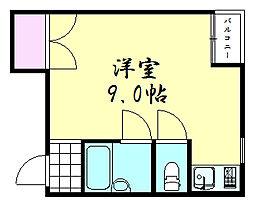 東伸ビル[301号室]の間取り