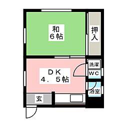 惣作マンション[2階]の間取り
