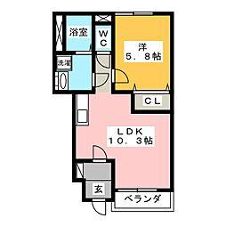 TIARA HOUSE[1階]の間取り