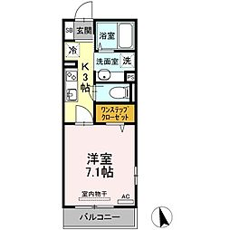JR東海道本線 川崎駅 バス13分 台町下車 徒歩11分の賃貸アパート 2階1Kの間取り