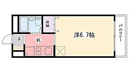 リバーサイドハイツ米田[208号室]の間取り
