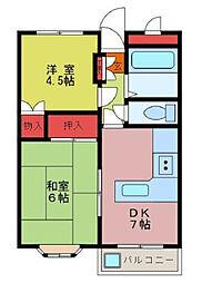 パルティーレ鶴ヶ島[102号室]の間取り
