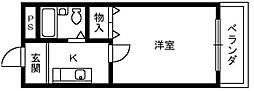 大阪府和泉市府中町8丁目の賃貸マンションの間取り