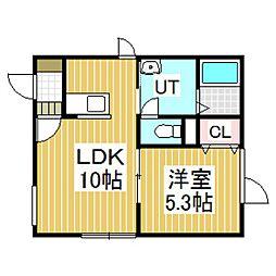 クローバーハウスII[2階]の間取り