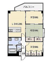 エル片野I[6階]の間取り