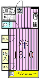 富士マンション[403号室]の間取り