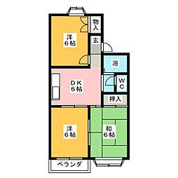 ジュネスI号館[1階]の間取り