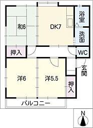 フルール柊[2階]の間取り