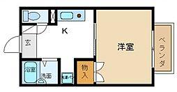 エバーグリーンOKUNO[2階]の間取り