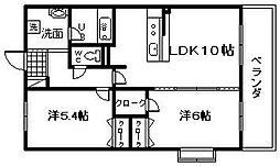 サン・リヴァージュ岸和田[101号室]の間取り