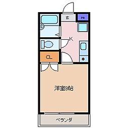 ワイズハイツ[3階]の間取り