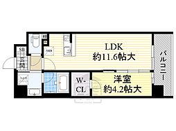 サニティ関目 5階1LDKの間取り