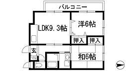 ローズ西野[2階]の間取り